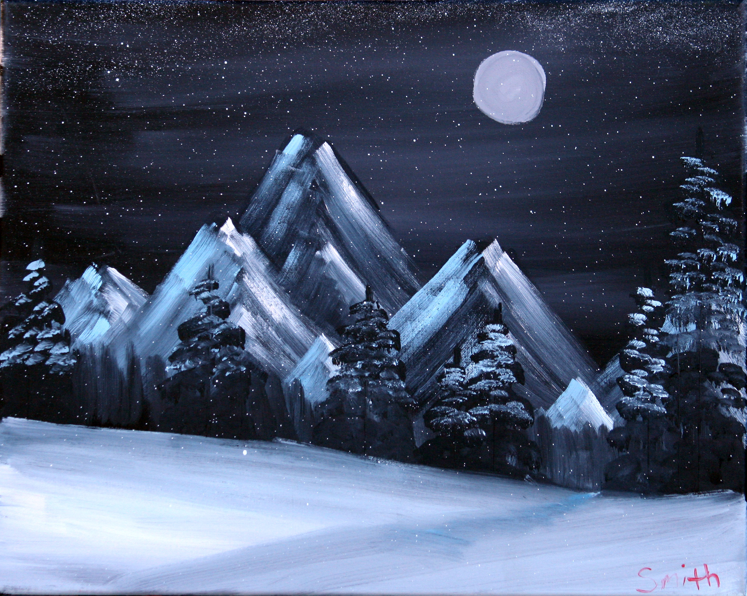 Nighttime-Winter-Mountains