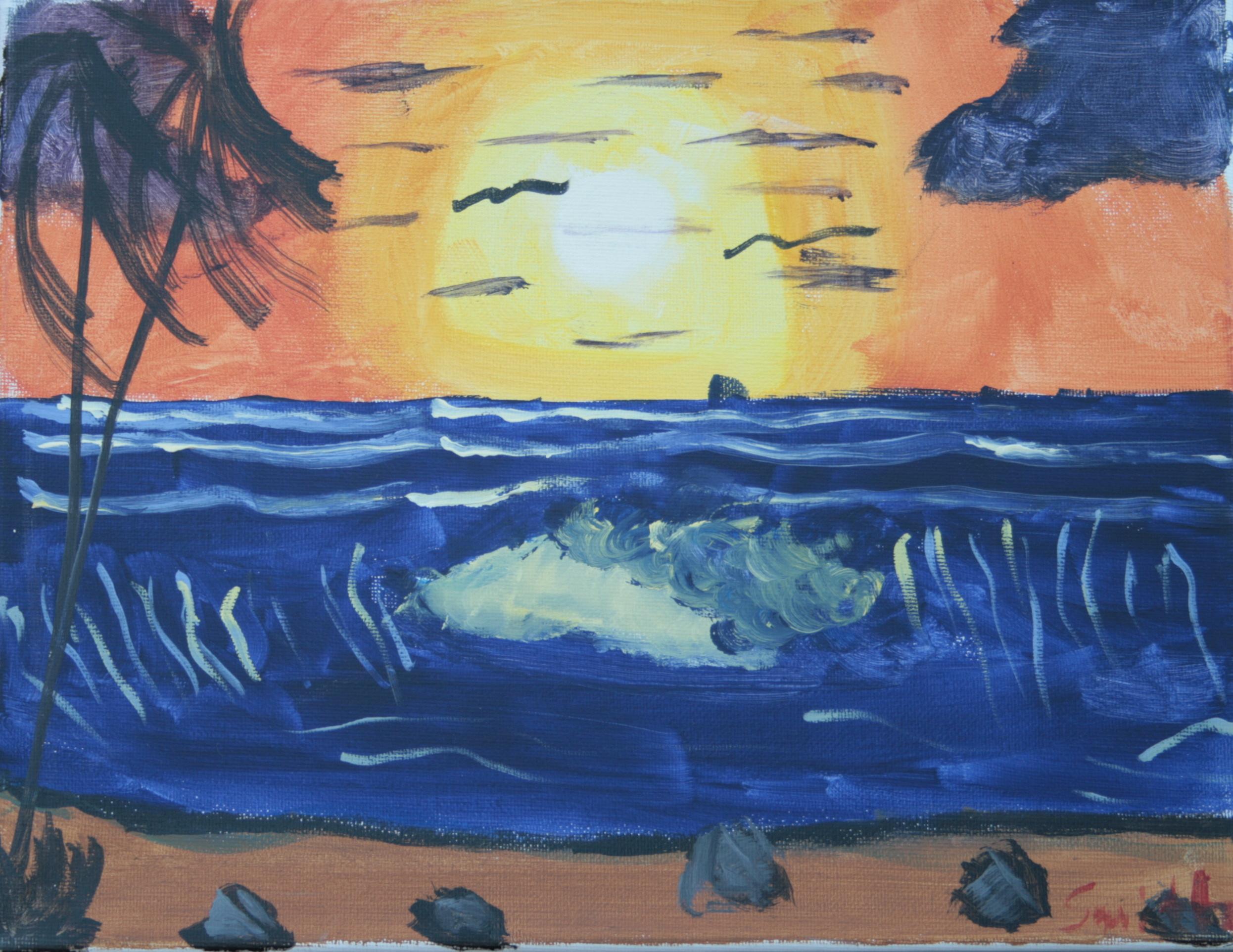 (7) Ocean Sunset