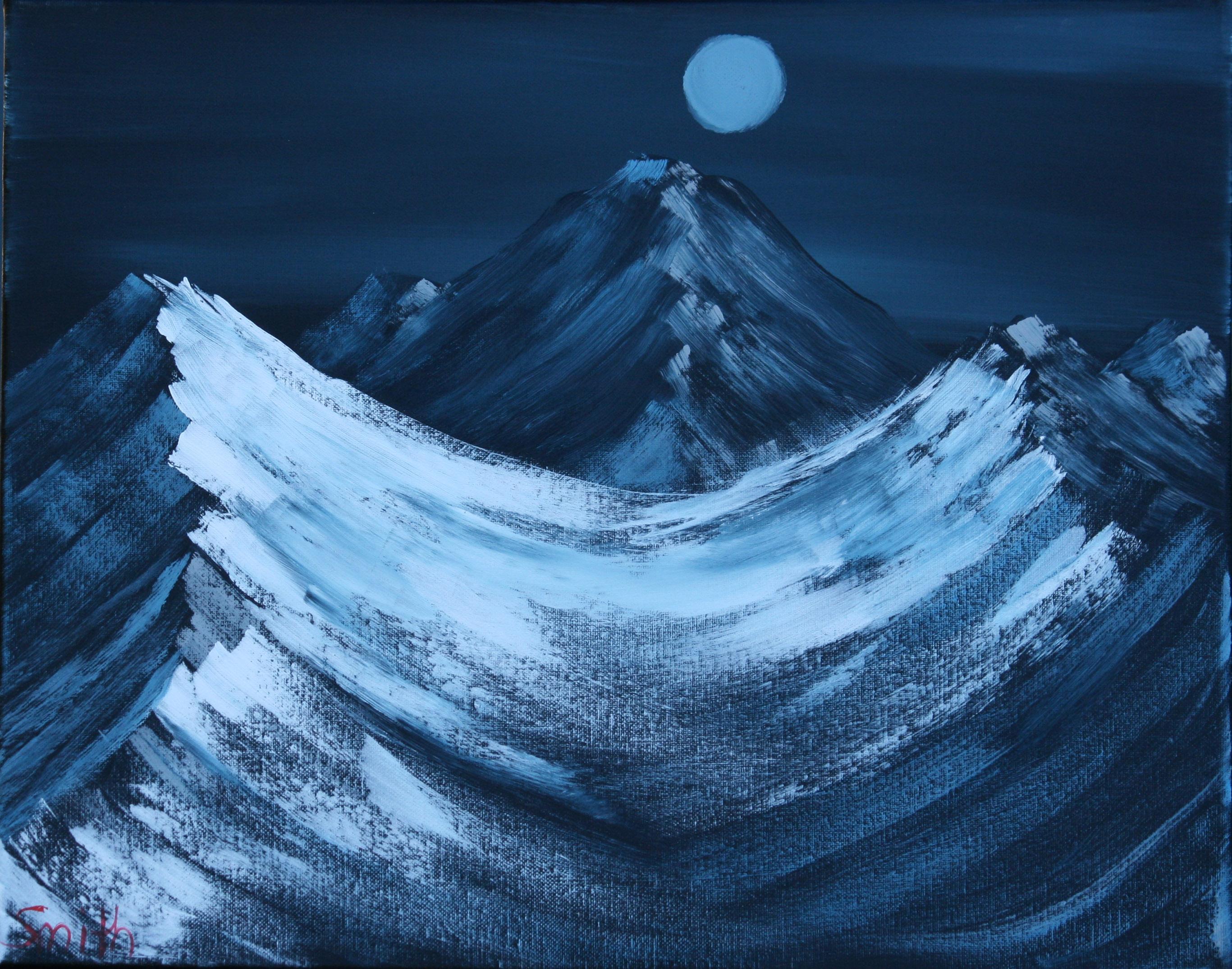 Nighttime-Artic-Mountain