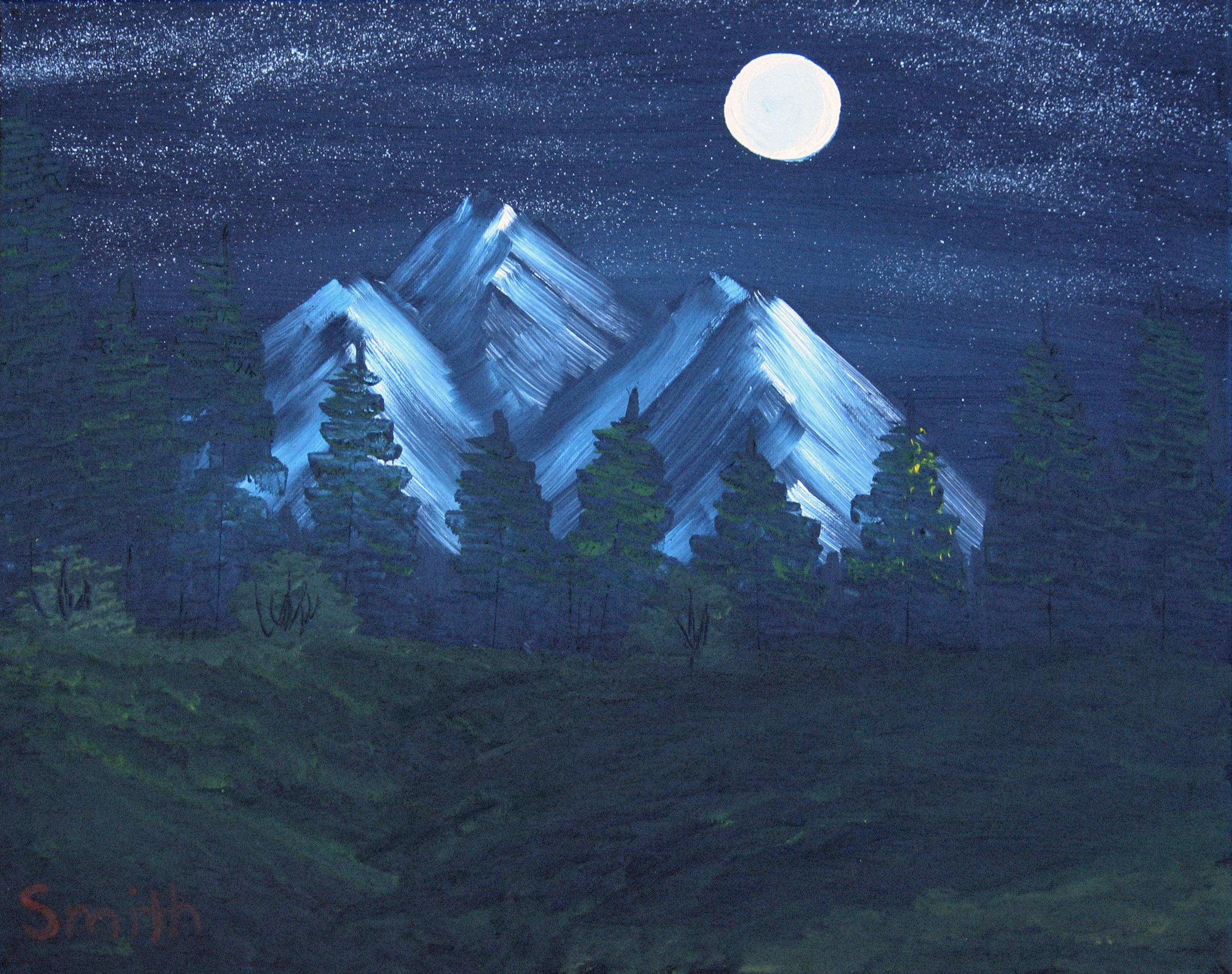 Summer-Night-Mountain